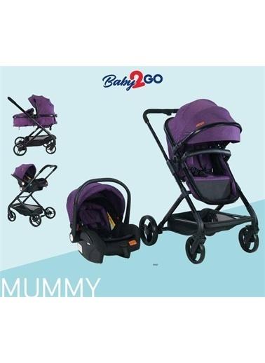 Baby2go Baby2Go 2032 Mummy Travel Sistem Bebek Arabasi-Mor Mavi